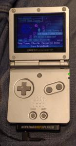 Nintendo MP3 Player sur une GameBoy Advance SP