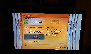 L'ancien menu de la Xbox 360